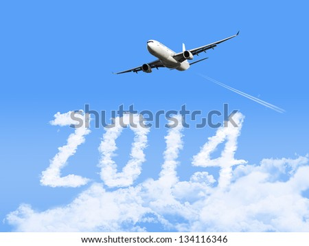 2014 with airplane.