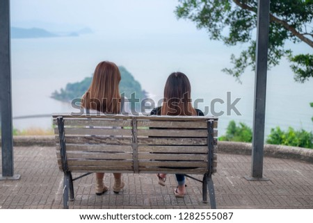 women watching the viewpoint on the viewpoint #1282555087