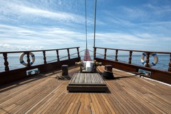 Wooden Boat with Teak Deck