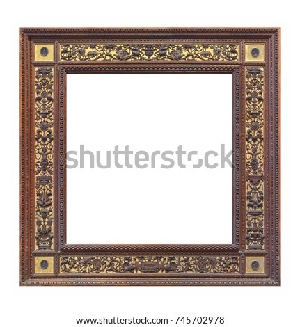 Wooden gilded frame for paintings, mirrors or photos