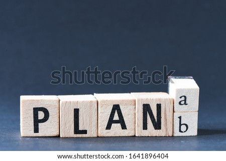 """Wooden letters, changes the word """"Plan A"""" to """"Plan B"""""""