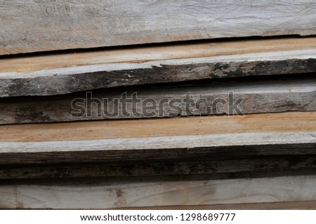 wooden sheets overlapping  prepare to be clear #1298689777