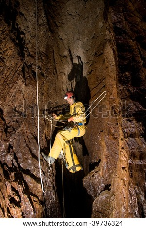 Work on the route of the cave Caucasus.