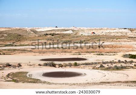 world famous Coober Pedy Opal Fields Golf Course, Stock fotó ©