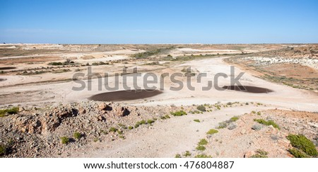 world famous Coober Pedy Opal Fields Golf Course, the only club in the world with reciprocal rights to Saint Andrews in Scotland, the home of golf.   Stock fotó ©