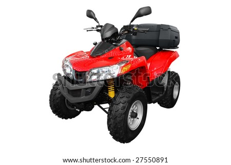 4x4 atv with trunk isolated