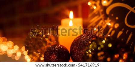 xmas background. xmas candles. lights #541716919