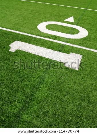 10-yard line on a football field