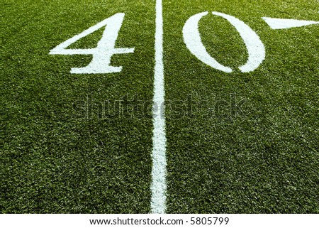 40 Yard Line with Line splitting the frame