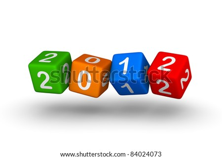 happy new year 2012 cards stock-photo--year-de