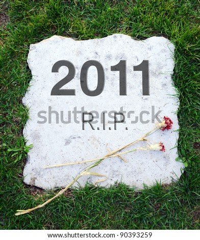 2011 year died and rest in peace - stock photo