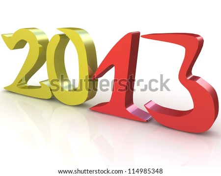 2013 year in 3d
