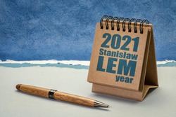 2021 year of Stanislaw Lem - Polish writer of science fiction and essays on various subjects, including philosophy, futurology, and literary criticism
