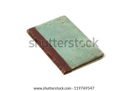 100 year old leather book. Has that beautiful patina that only centuries can create. - stock photo