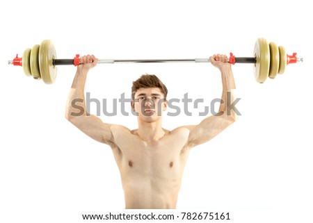 Young boy lifting weights Images and Stock Photos - Page: 13