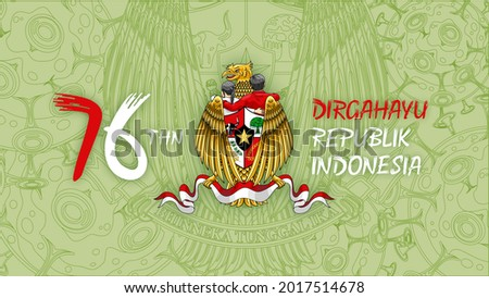 76 years of Indonesia's independence,  Stock fotó ©