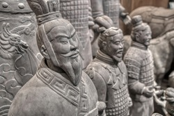 2000 years of the terracotta warriors at the Mausoleum of the First Qin Emperor in Xi'an, Shaanxi Province, China.
