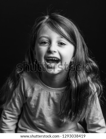 6 years old girl portrait #1293038419
