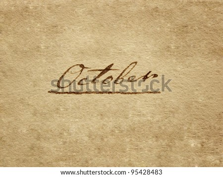 100 years old handwritten october