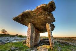 5 000 years old Polnabrone Dolmen in Burren, Co. Clare - Ireland