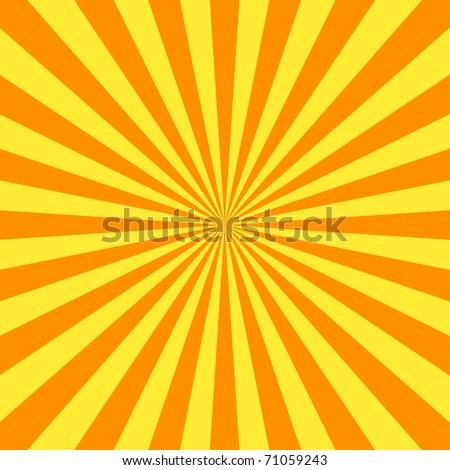 Yellow stripes background flyer - stock photo