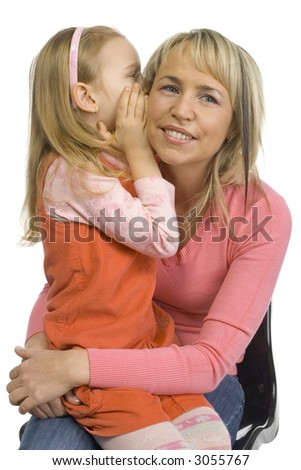 6Yo Models http://www.shutterstock.com/pic-3055767/stock-photo--yo-girl-is-whispering-to-mother-s-ear-isolated-on-white-in-studio.html