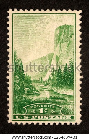 #740 Yosemite 1 cent Postage Stamp #1254839431