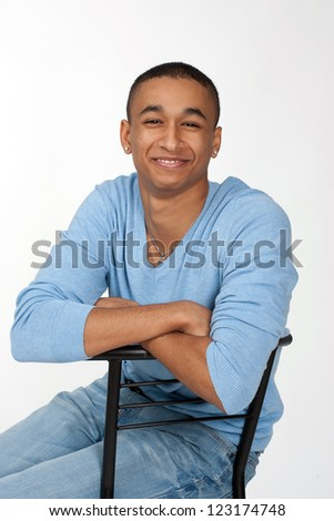 Young Black College Student - stock photo
