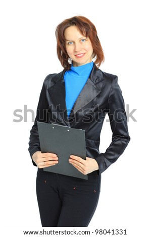 Young business woman smiling