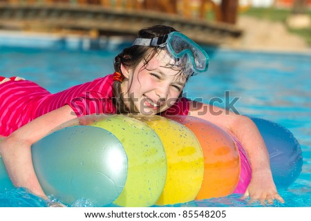 Young Girl in Swimming Pool
