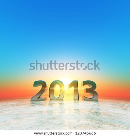 2013 - stock photo