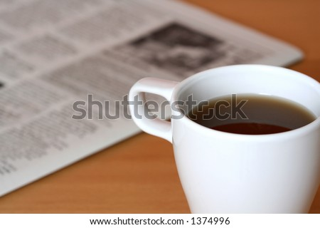 及び新聞コー� ��ー - stock photo
