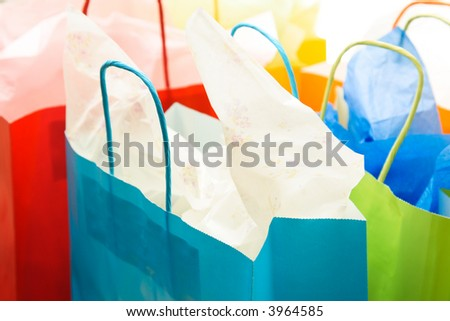 一束的射击五� ��六色的购物� � - stock photo