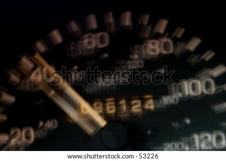 술취하는 속도계를 말라 - stock photo