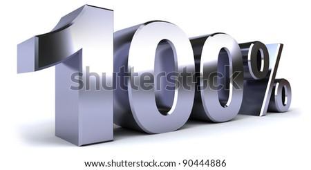 100% - stock photo