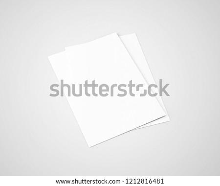 A4 / A5 Flyer Blank White #1212816481