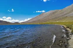 A Amazing view of Sheosar Lake: Selective focus, selective focus on subject, background blur
