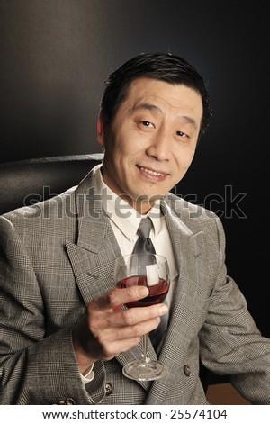A Asia businessman Confidence smiling - stock photo