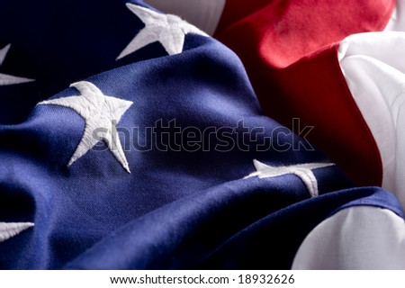 A background consisting of and American flag
