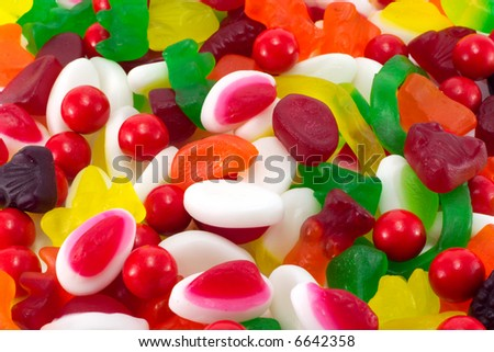 A background of assorted candy.
