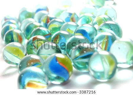 A background of colourful marbles