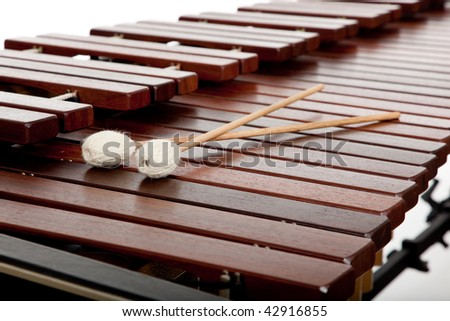 A background of marimba and mallots #42916855