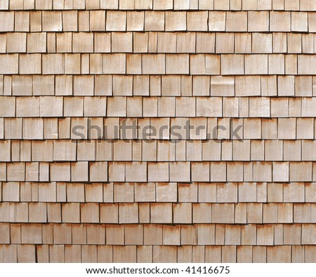 A background of pine shingles