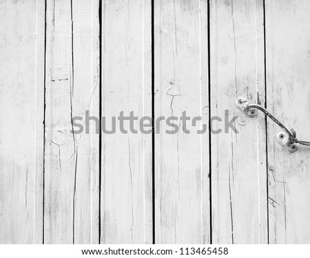 A background of weathered white painted door