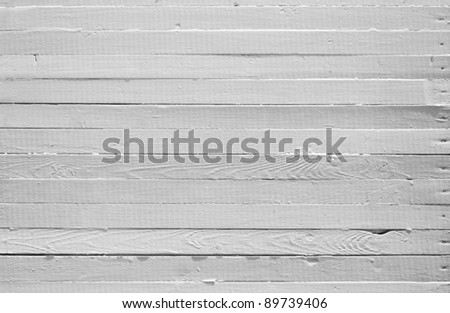 A background of weathered white painted wood - stock photo