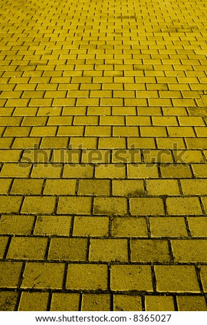 stock photo : A background texture of a yellow brick road