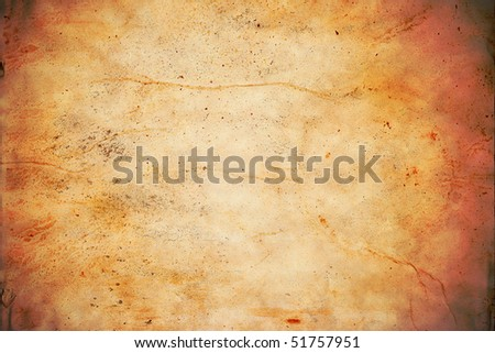 A background texture simulating a tanned animal hide or leather.