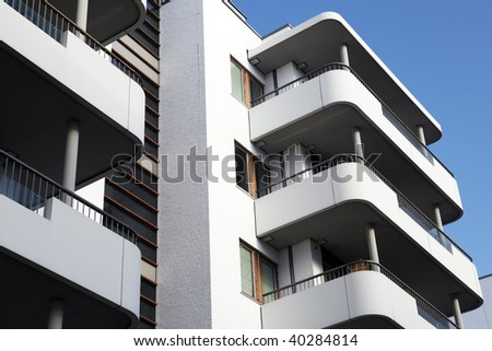 a balcony front on a Building Exterior