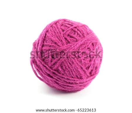 a ball of yarn on white background