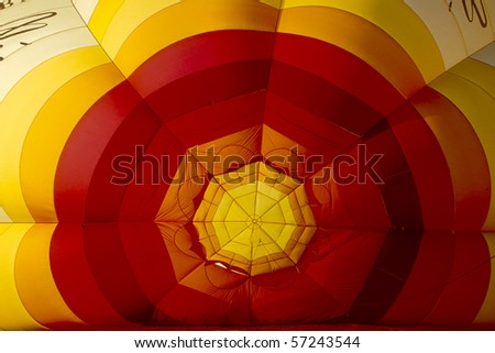 a balloon is inflated hot air for takeoff